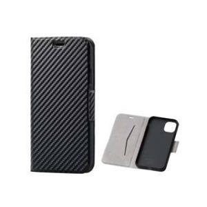 ELECOM/エレコム  iPhone 11用ソフトレザーケース/薄型/磁石付 カーボン調 ブラック PM-A19CPLFUCB murauchi3