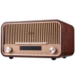 SMS820BT メタルと木目のコントラストが美しい!Bluetooth機能搭載CDシステムステレオ