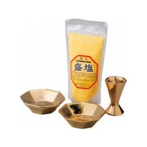 クレール  福招き金の八角盛り塩皿セット 色塩付/5295