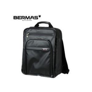 BERMAS/バーマス  60058 FUNCTION  PVCコーティング加工 撥水 ビジネス リュック (ブラック)