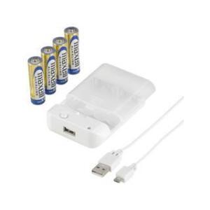 インプリンク  スマホ用乾電池式単3×4本USBタイプ 充電専用ケーブル1m付 IBCU4-SPC02W ホワイト|murauchi3