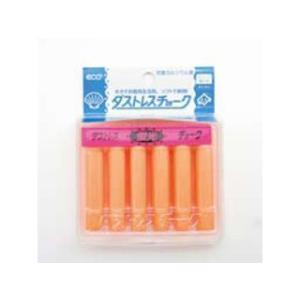 Nihon Rikagaku/日本理化学工業  ダストレス蛍光チョーク(6本入)/橙DCK−6−RG|murauchi3