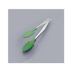 18−0抗菌 耐熱カラフルトング/グリーン