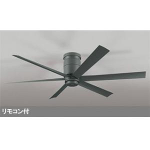 ODELIC/オーデリック  【軽量】WF247 LEDシーリングファン DCモーターファン 器具本体 6枚羽根 (チャコールグレー)|murauchi3