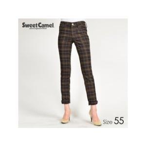 Sweet Camel/スウィートキャメル  タータンチェック柄スキニー パンツ(78=ブラウン/サイズ55)|murauchi3