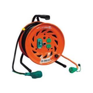 NICHIDO/日動工業  電工ドラム びっくリール 100V アース漏電しゃ断器付 30m/RND-EB30S (22A-30Mアースツキ)|murauchi3