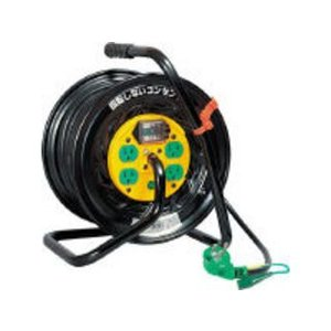 NICHIDO/日動工業  電工ドラム マジックリール100V アース漏電しゃ断器付30m/TZ-EB34|murauchi3