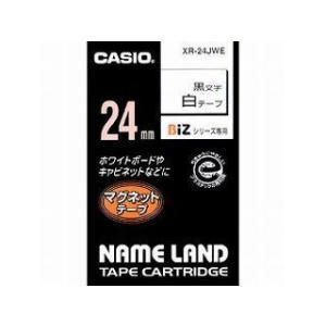 CASIO/カシオ  ネームランドマグネットテープ24mm 白 XR-24JWE
