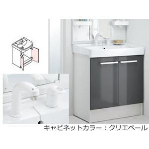 LIXIL/リクシル  【INAX】洗面化粧台750mm D7 両開き シングルレバー洗髪シャワー水栓 D7N4-755SY1-W/LP2W|murauchi3