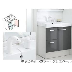 LIXIL/リクシル  【INAX】洗面化粧台750mm D7 引き出しタイプ シングルレバー洗髪シャワー水栓 D7H4-755SY1-W/LP2W|murauchi3