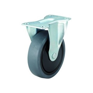TRUSCO/トラスコ中山  樹脂台車カルティオ用省音キャスター Φ100エラストマー車 固定/TYSR-100SEL|murauchi3