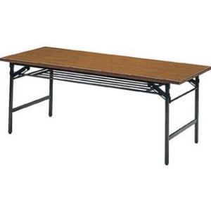 TRUSCO/トラスコ中山  【代引不可】折りたたみ会議テーブル 1500X600XH700 チーク 1560 murauchi3