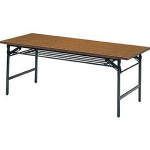 TRUSCO/トラスコ中山  【代引不可】折りたたみ会議テーブル 1800X750XH700 チーク 1875 murauchi3