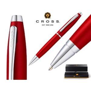CROSS/クロス  ボールペン/名入れOK■カレイ【レッド/フラット】■ボックスパッケージ|murauchi