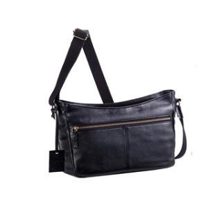 日本製■本革ショルダーバッグ【ブラック】B5ファイル対応■シボ型押しの本革製|murauchi