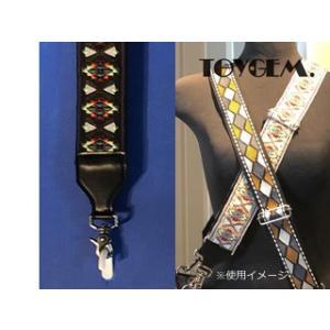 TOYGEM/トイジェム  ワイドショルダーベルト【ブラック】イカット/絣織り■幅5cmのワイドショルダー|murauchi