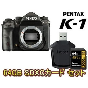 【nightsale】 PENTAX/ペンタックス  PENTAX K-1 ボディ+64GB Professional 2000x SDXCカードセット【k1set】|murauchi