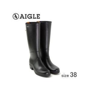 AIGLE/エーグル  ラバーレインブーツ MISS JULIETTE A (NOIR ノワール/サイズ38:24.0cm)|murauchi
