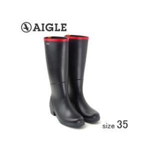 AIGLE/エーグル  ラバーレインブーツ MISS JULIETTE A (MARINE ROUGE/サイズ35:22.5cm)|murauchi