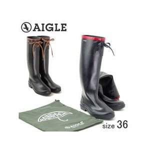 AIGLE/エーグル  折り畳める ラバーレインブーツ MISS MARION/ミスマリオン (NOIR AMBRE/サイズ36:23.0cm)|murauchi
