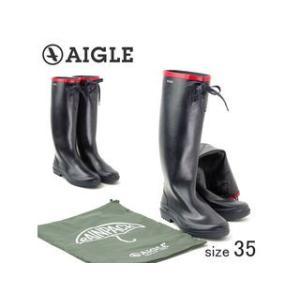 AIGLE/エーグル  折り畳める ラバーレインブーツ MISS MARION/ミスマリオン (MARINE ROUGE/サイズ35:22.5cm)|murauchi