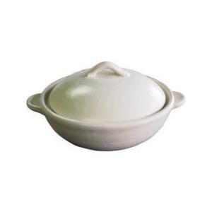 萬古焼  ★★★萬古焼 フェリーチェ6号土鍋 ホワイト  M4081|murauchi