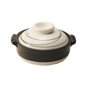 マルヨシ陶器  ★★★【BANKO/萬古焼】白らせん IH6号鍋/M4071|murauchi