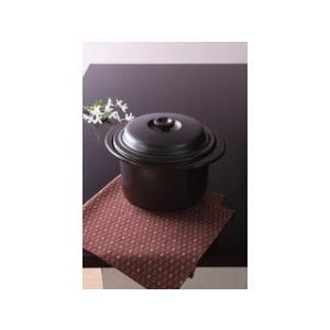 SAJI/佐治陶器  【BANKO/萬古焼】直火・IH両用 クレストスチーム鍋(プレート付) アメ/21−43|murauchi