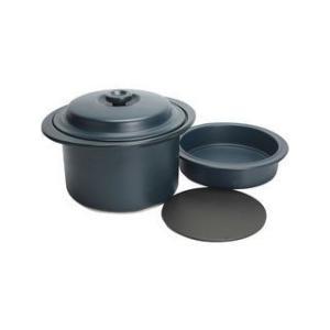 SAJI/佐治陶器  【BANKO/萬古焼】クレストボイル鍋・スチーム鍋セット(藍)/21‐52|murauchi