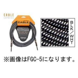 K.Garage  【在庫限り】ギター・ベース用シールドケーブル FGC-3 3m BLK/WHT  ねじれに強く扱い易い|murauchi