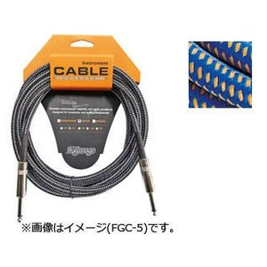 K.Garage  【在庫限り!】ギター・ベース用シールドケーブル FGC-3 3m BLU/ORG ねじれに強く扱い易い|murauchi