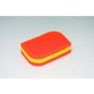 3M/スリーエム  スコッチブライト キッチンスポンジ 抗菌 リーフ型 オレンジ SS-72KE murauchi