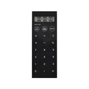 dretec/ドリテック  電卓付バイブタイマー/ブラック/CL−119BK|murauchi