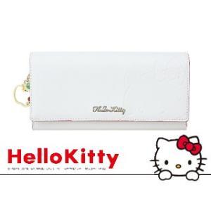 Sanrio/サンリオ  【在庫限り】♪ HKC2-8 キティかぶせ中LF束入れ【ホワイト】|murauchi