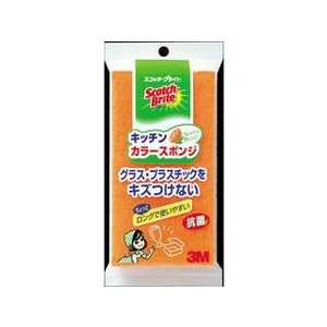 3M/スリーエム  キッチンカラースポンジたわし オレンジ SS74KORE murauchi