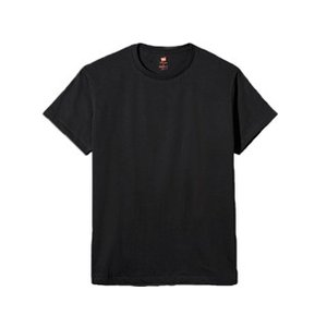 Hanes/ヘインズ  プレミアムジャパンフィット クルーネックTシャツ L (ブラック) HM1-...
