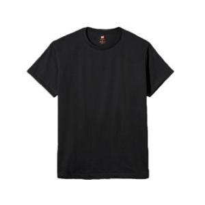 Hanes/ヘインズ  プレミアムジャパンフィット クルーネックTシャツ M (ブラック) HM1-...