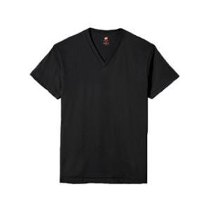 Hanes/ヘインズ  プレミアムジャパンフィット VネックTシャツ LL (ブラック) HM1-F...