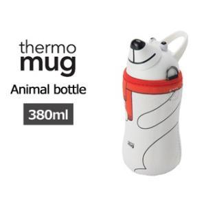 thermo mug/サーモマグ  アニマルボトル ホワイト AM1838