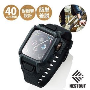 ELECOM/エレコム  Apple Watch 40mm/NESTOUTバンドケース/ブラック AW-40BCNESTBK murauchi