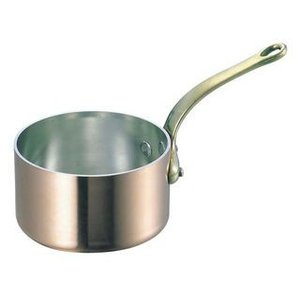 WADASUKE/和田助製作所  SW 銅 極厚 深型 片手鍋 蓋無(真鍮柄)24cm murauchi