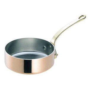 WADASUKE/和田助製作所  SW 銅 極厚 浅型 片手鍋 蓋無(真鍮柄)24cm murauchi