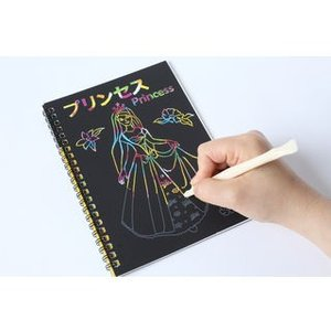 SEI Scratch/セイスクラッチ  SEI-05-12  スクラッチブック12枚 子供向け 【プリンセス】|murauchi