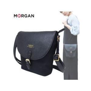 MORGAN/モルガン  MOC02 フェイクレザー ミニショルダーバッグ (ブラック)|murauchi