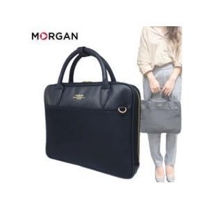 MORGAN/モルガン  MOC06 ナイロン × フェイクレザー 2way ブリーフケース (ブラック)|murauchi