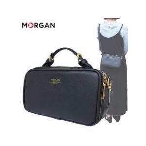 MORGAN/モルガン  MOC08 フェイクレザー ウォレット ショルダー (ブラック)|murauchi