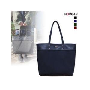 MORGAN/モルガン  MOD02 シンプル肩がけトートバッグ (ネイビー)|murauchi