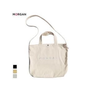 MORGAN/モルガン  MOF01 2WAYキャンバストートバッグ (シルバー)|murauchi