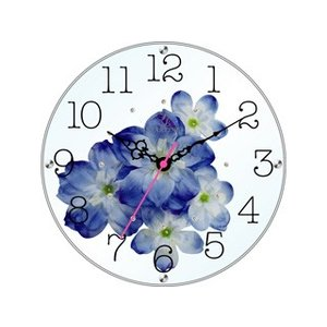STARLINE スターライン STW-1195BU ブルー アートフラワー置き時計の商品画像 ナビ