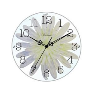 STARLINE スターライン SW-1187 WT ホワイト アートフラワー掛け時計の商品画像|ナビ
